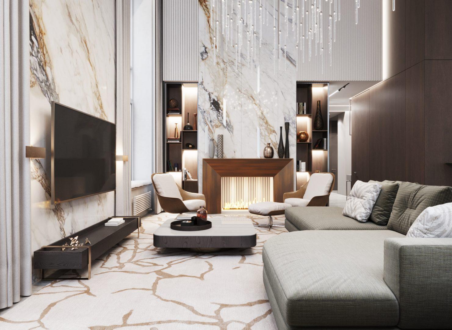Гостиная, зона отдыха - вариант планировки лофта в ЖК Александровский сад